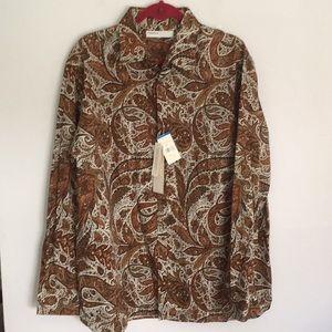 Perry Ellis designer shirt NWT size XL